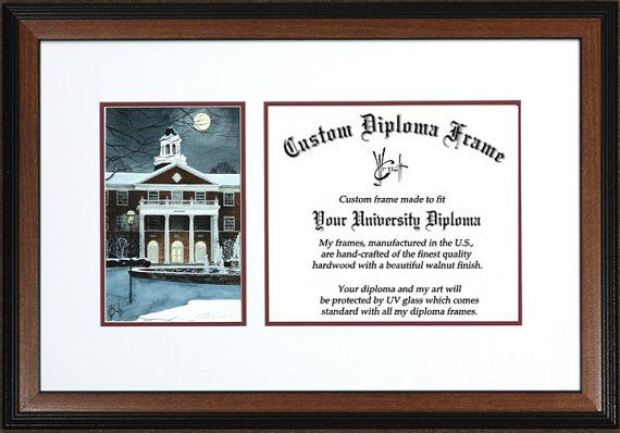 Elon University Diploma Frame (Elon Nights)... this is amazing.