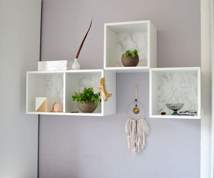 IKEA Valje Hack Wie Du Ein Edles DIY Wandregal Im Marmorlook Zauberst