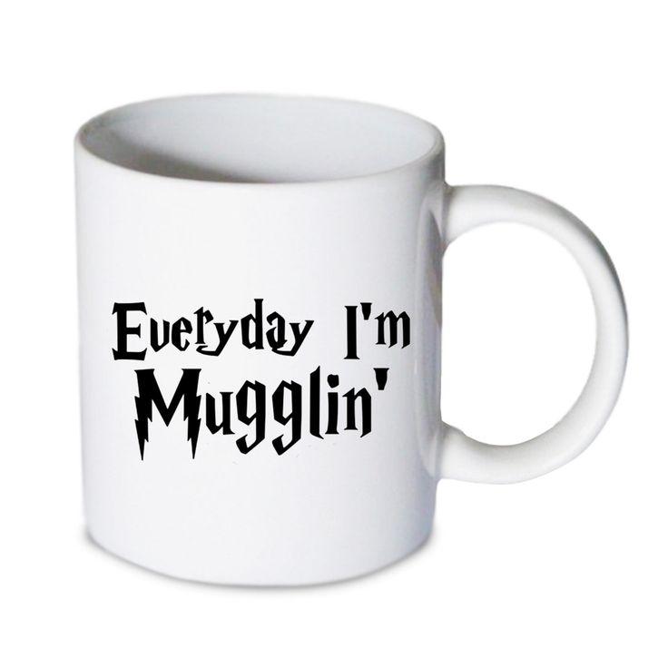Coffee mug - Everyday Im Mugglin Mug - Custom Coffee mug - Ceramic mug by babydragonshop on Etsy  #mug #harry #potter #mugs #cups #coffee #tea #hot #sublimation #quote #gift #birthday #custom #lyric #band #mom #sister #men #women #11oz #Ceramic #white #belcher #burger #yonce #beyonce #jon #snow #hogwart