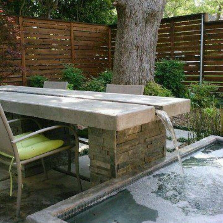 Outdoor Table With Water Feature to Amaze You - Top Inspirations