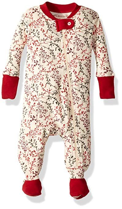 d949a12a4 Burt's Bees Baby Baby Girls' Organic Print Zip Front Non-Slip Footed  Sleeper Pajamas, Berry Branches, Newborn affiliate link