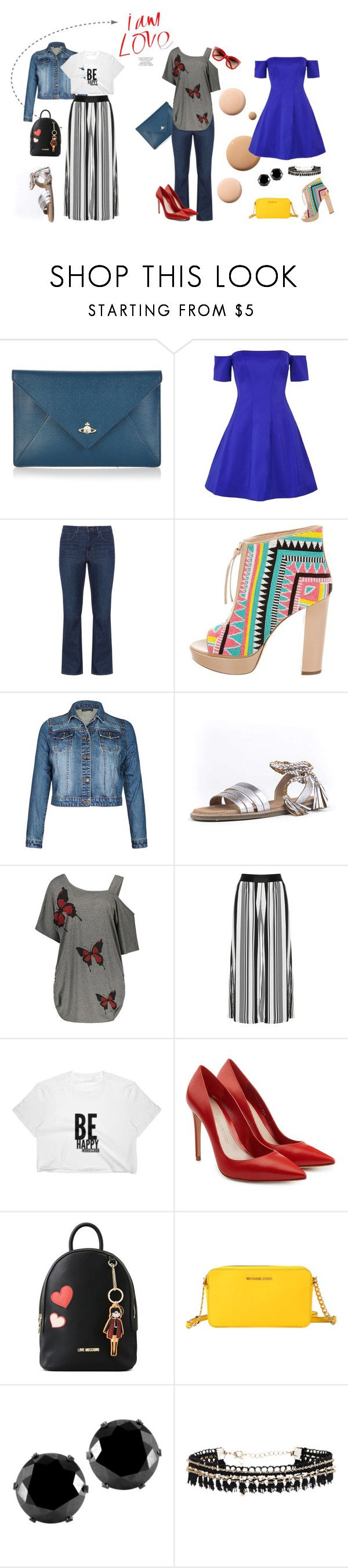 """""""chicas curvy"""" by alejandrarivera-i on Polyvore featuring moda, CC, Vivienne Westwood, Kendall + Kylie, Levi's, Jerome C. Rousseau, Seychelles, Mat, Alexander McQueen y Love Moschino"""