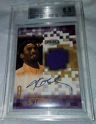 2001-02 UPPER DECK PLAYMAKERS PC WARM UP AUTOGRAPHS LAKERS Kobe Bryant BGS 8.5
