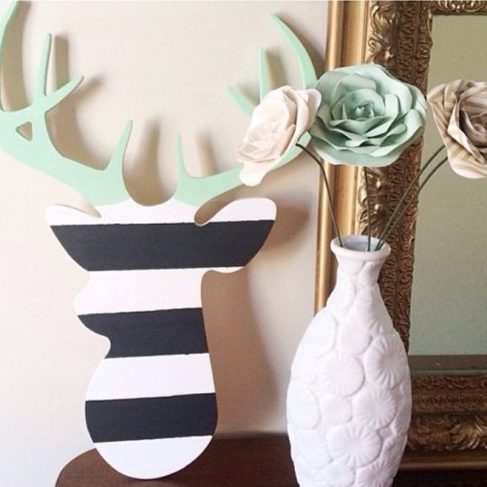 Unfinished Wood Deer Head Cutout $11.99 - http://www.pinchingyourpennies.com/unfinished-wood-deer-head-cutout-11-99/ #Craft, #Deerhead