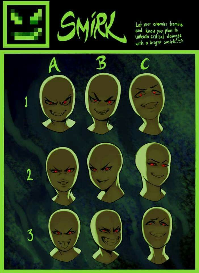 Facial expressions reference