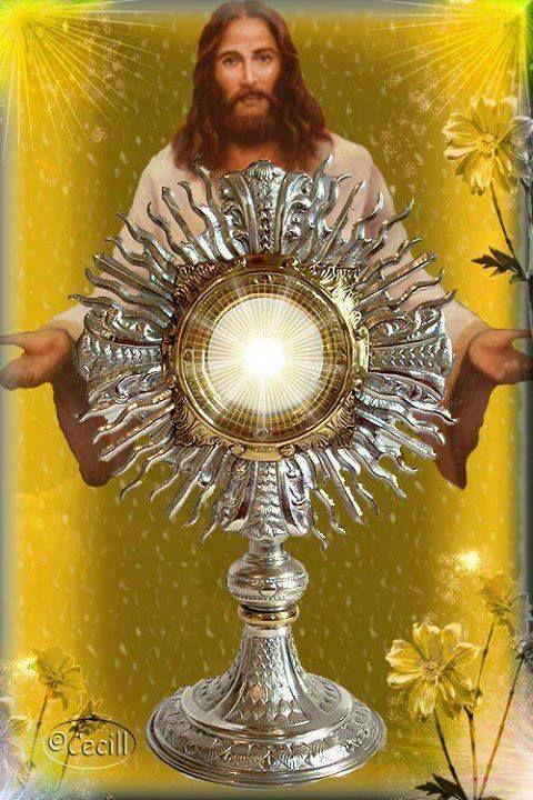 Ježiš Kristus - Spasiteľ sveta sa tak ponížil, že sa skryl do malého kúska chleba vo Sviatosti Oltárnej len preto, lebo po mne túži a túži byť so mnou a preto aj ja túžim byť s Ním!!Bežme ku Nemu, veď ON je láska.