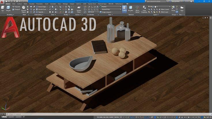 AutoCAD 3D Orta Sehpa Çizimi/2 (Basit)