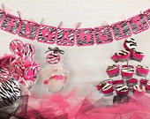 Pink & Zebra Baby Shower Banner