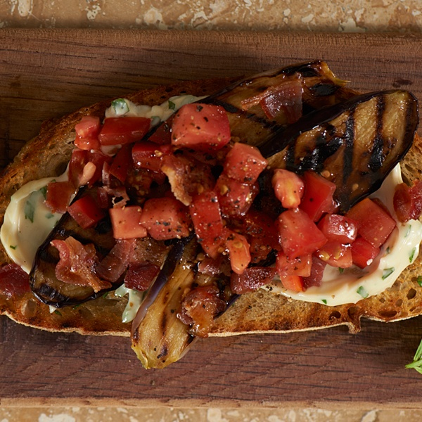 eggplant sandwich tomato sandwich grilled eggplant bacon recipes ...