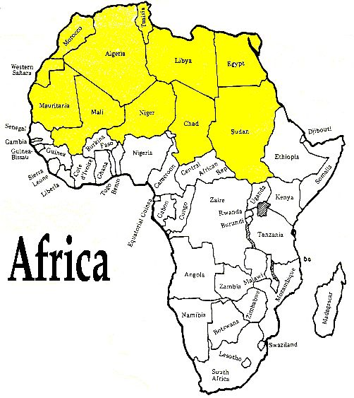 Africa Sahara Desert Map Map Of Africa
