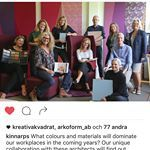 Vissa uppdrag är lite extra roliga och hedrande att få vara en del av. Det här är ett sånt. Känns fantastiskt fint att få tillbringa tid tillsammans med det här gänget med superbegåvade människor och spana in kulörer och material. #kinnarps #hildurblad @kinnarps #colours #trendspotting #trendspaning #workplace