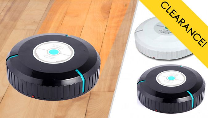 Buy Robotic Floor Sweeper - 2 Colours UK deal for just: £11.99 Cleaning can be stress-free with the Robotic Floor Sweeper      Available in Black or White      Smart technology allows the sweeper to direct itself around the room      Gets right into narrow nooks, crannies and under furniture      Microfiber tissue picks up dust, dirt, pet hair and more with ease      Avoids dangerous...
