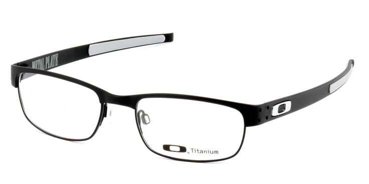 Oakley Metal Plate Matte Black Satin Chrome Eyeglasses