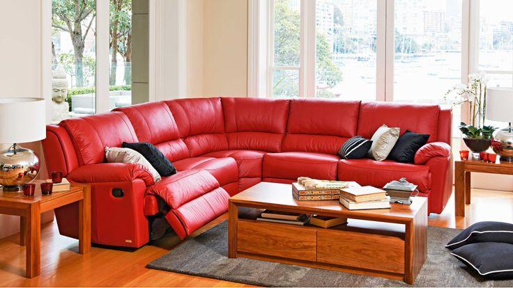 Renmark 5 Piece Leather Modular Recliner Lounge