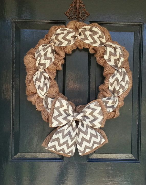 Hey, I found this really awesome Etsy listing at https://www.etsy.com/listing/174503303/burlap-wreath-with-gray-chevron-burlap