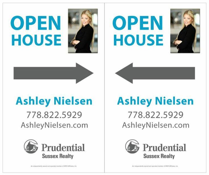 Ashley Nielsen Real Estate Open House Signs Design for Real Estate