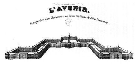 Un phalanstère[1] est un ensemble de bâtiments à usage communautaire qui se forme par la libre association et par l'accord affectueux de leurs membres. Pour Charles Fourier, les phalanstères formeront le socle d'un nouvel État.