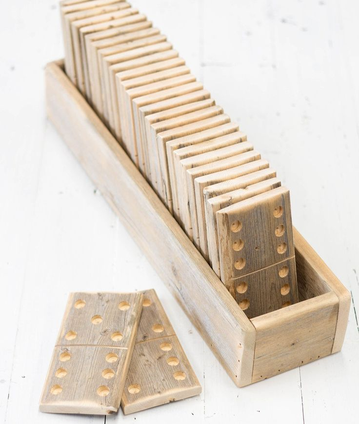 These Large Handcrafted Wooden Dominoes are such a fun gift idea. Or just a pretty farmhouse game room addition.