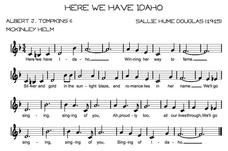 idaho state song