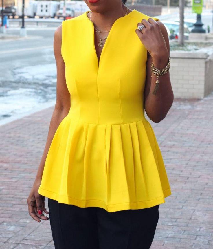 DIY Lemon Peplum Top – Beaute' J'adore