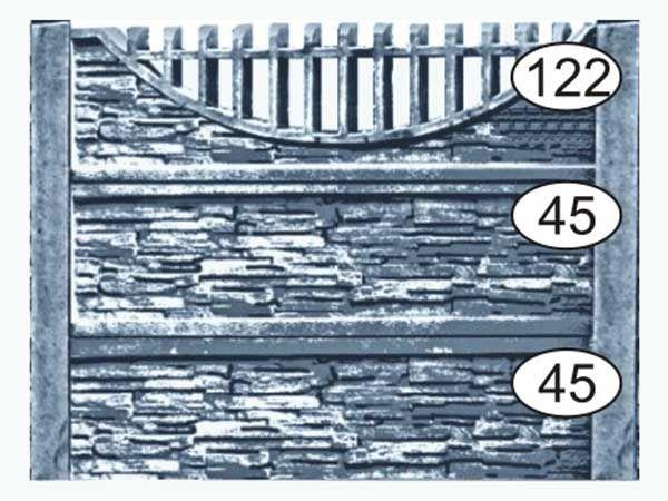 #Бетонный #забор #минск Ограждение бетонное 122-45-45