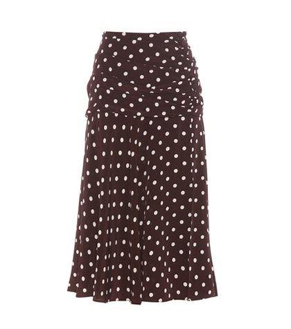 Veronica Beard Madison Printed Silk Skirt For Spring-Summer 2017