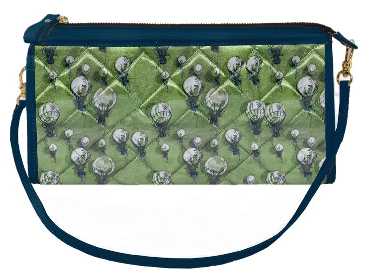 Crystal Clutch Bicolor Brilliant-green Blue http://federicalunello.com #federicalunello #bags #accessories #handmade #madeinitaly