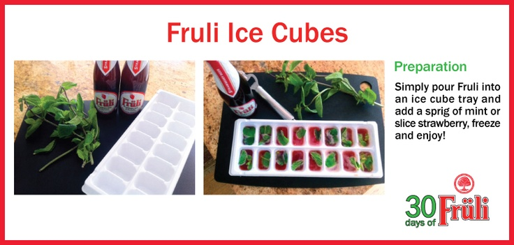 Jazz up your next cocktail with these Fruli ice cubes!