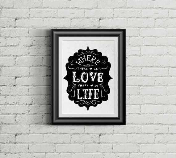 Love Quote_Hand Lettering Typography Poster_Retro Typography Design_Black_Love_Creative