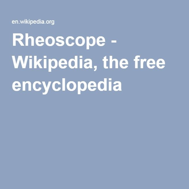 Rheoscope - Wikipedia, the free encyclopedia