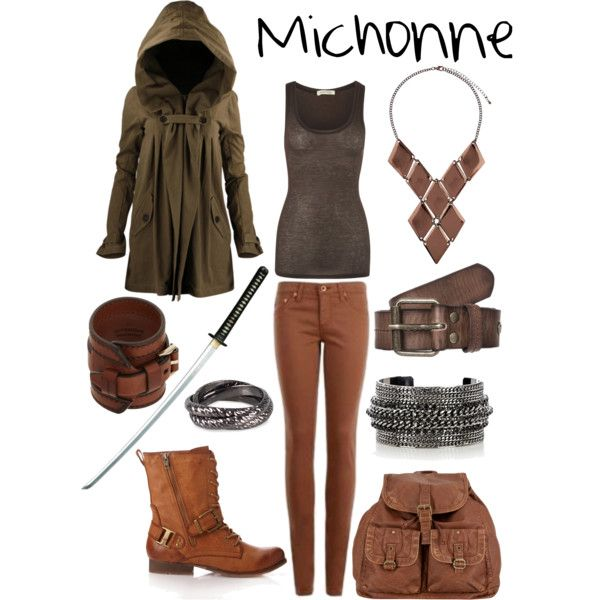 Outfit inspired by The Walking Dead (AMC) character Michonne by shadowsintime on Polyvore