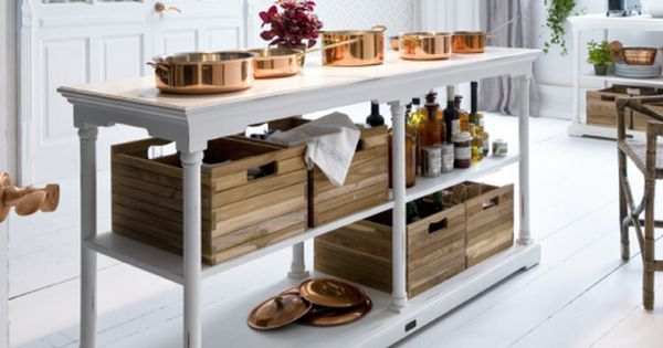 Style tip: if you're using the Bordeaux in a kitchen, stash fresh vegetables and herbs inside one of the teak boxes with greenery overflowing for a fresh-from-the-market vibe