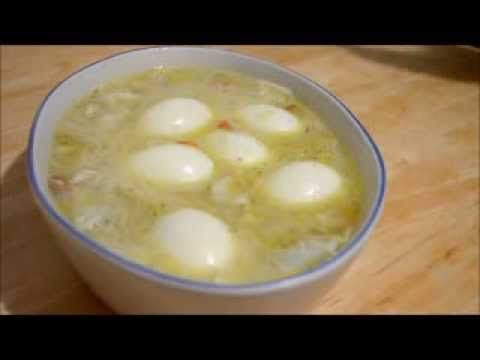 Misua Soup with Hard Boiled Eggs Soup and Chicken Dumplings!