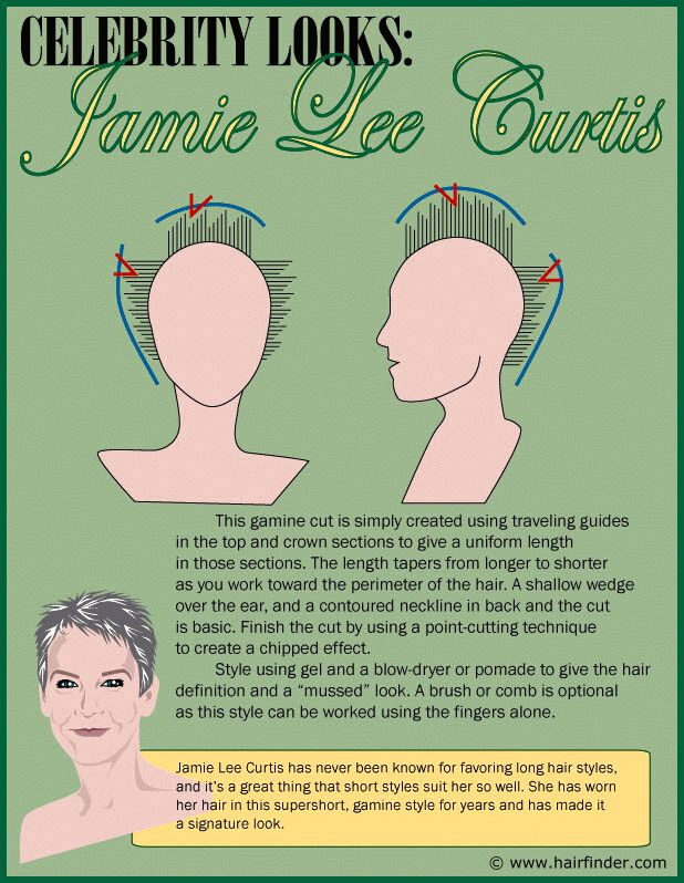 How to create a short gamine haircut inspired by Jamie Lee Curtis