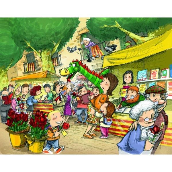 Sant Jordi - Il·lustració de Subi