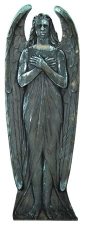 19th century American cast bronze plaque in the form of a standing ange.