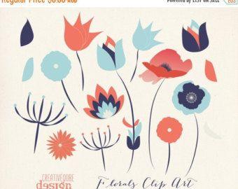 Lange voort bloem lijntekeningen getekende bloem door FishScraps