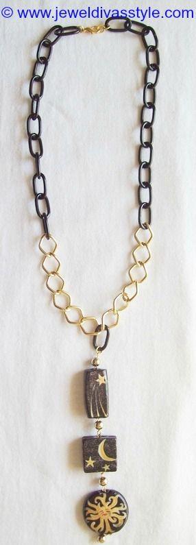 JDS - JEWEL DIVAS CELESTIAL NECKLACE - http://jeweldivasstyle.com/my-personal-collection-black-jewellery-13/