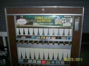 cigarette machines: Hotels Bar, Machine I, Cigarette Machine, 50 Cent, Front Doors, 35 Cent, Laundry Mats, Remember These, Grocery Stores