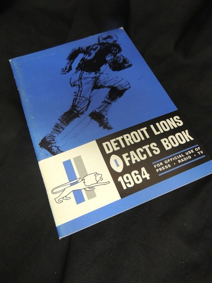 1964 Detroit Lions Press Book Radio TV Media Guide Facts NFL Football Champions