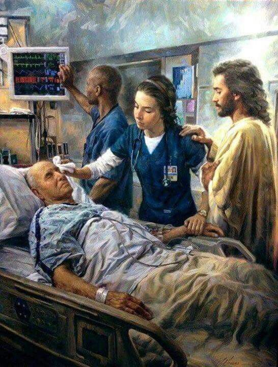 This is beautiful! I know so many doctors, Nurses, Front offices team, paramedics,Medical Assistants,LPN,PA,Nurse Practitioners, Radiologist that have God's hand  in practicing medicine. I see miracles everyday! I love my job!