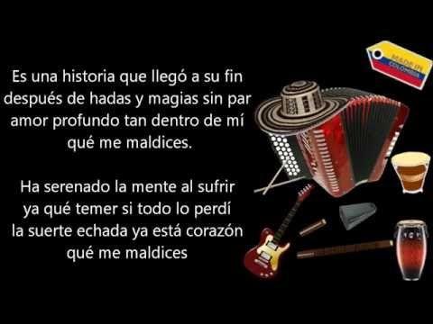 La suerte esta echada Diomedes Diaz (Letra) - YouTube