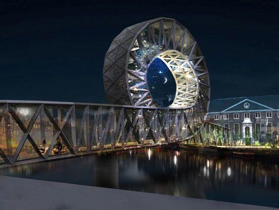 Giant loop-de-loop bridge is just begging Sonic to run through it