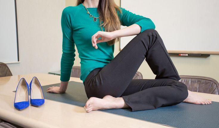 Black Dress Pant Yoga Pants (Straight-Leg) $88
