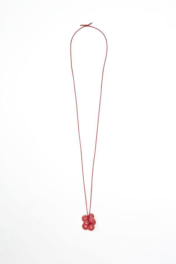 NAJS - grapes porcelain necklace by Tereza Severynova www.najs.cz