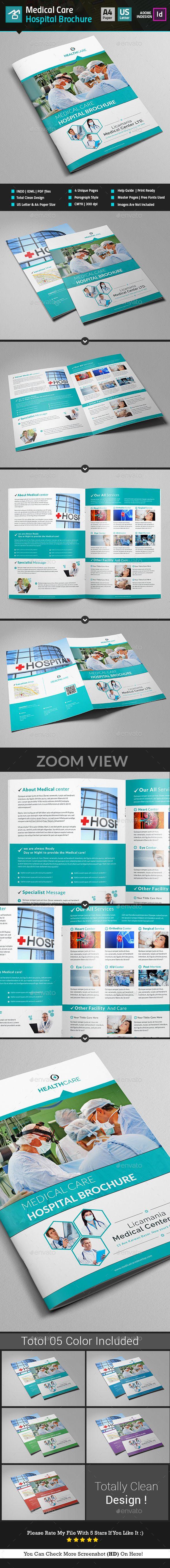 Medical Center / Hospital Brochure Template InDesign INDD. Download here: http://graphicriver.net/item/medical-center-hospital-brochure-template/16858116?ref=ksioks