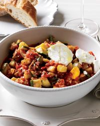 Speedy Ratatouille with Goat Cheese Recipe from Food & Wine