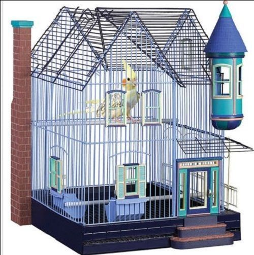 Big Large Cage For Parakeets Cockatiels Victorian Top Feeder Unique Bird House