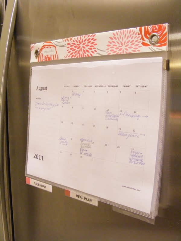 Diy Refrigerator Calendar : Could make this with tabbed dividers sheet protectors