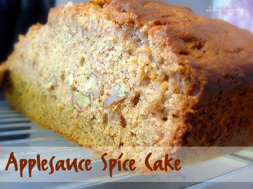 Applesauce Spice Cake | Cake Recipes | Pinterest